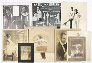 Small Cache of Photographs and Promotional Materials Relating to the Equilibrist Act Ansel & Dorian