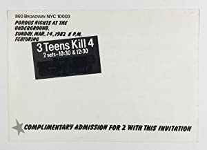 Invitation for a 1982 Performance at The Underground