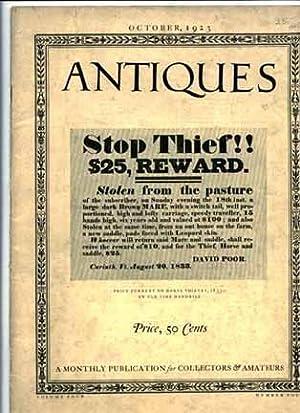 Antiques Volume IV Number 4 October 1923: Keyes Homer Eaton, Editor
