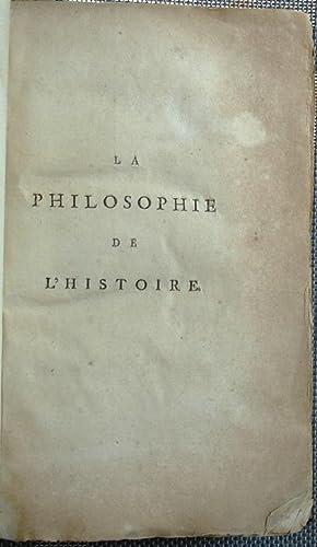 LA PHILOSOPHIE DE L'HISTOIRE: Voltaire, (here Under