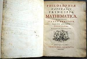 PHILOSOPHIAE NATURALIS PRINCIPIA MATHEMATICA: NEWTON, Isaac (Sir).