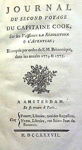JOURNAL du Second Voyage du Capitaine COOK,: MARRA (John);COOK (James);