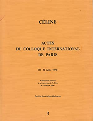 Actes du colloque international de Paris (17-19 juillet 1979).