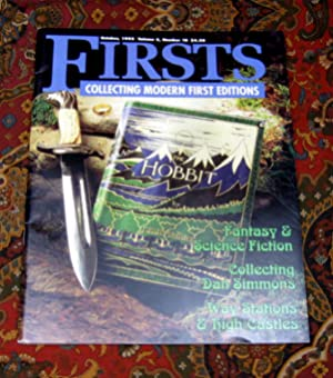 Firsts Magazine Cover Story Featuring The Hobbit Tolkien JRR