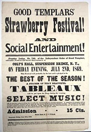 GOOD TEMPLARS' STRAWBERRY FESTIVAL! AND SOCIAL ENTERTAINMENT!|: Good Templars
