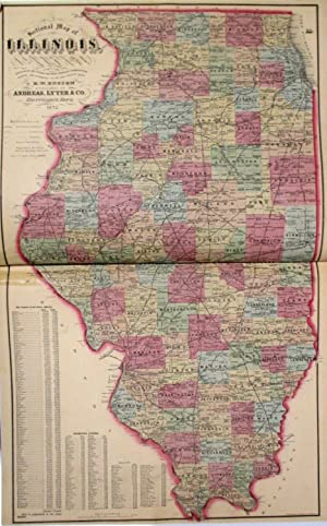 ATLAS MAP OF ADAMS COUNTY, ILLINOIS. COMPILED, DRAWN, & PUBLISHED FROM PERSONAL EXAMINATIONS & SU...