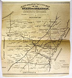 RESOURCES OF THE STATE OF ARKANSAS, WITH DESCRIPTION OF COUNTIES, RAIL ROADS, MINES, AND THE CITY...