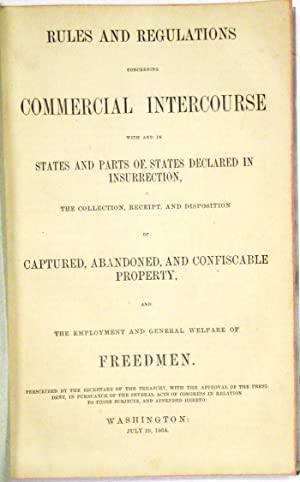 RULES AND REGULATIONS CONCERNING COMMERCIAL INTERCOURSE WITH AND IN STATES AND PARTS OF STATES DE...