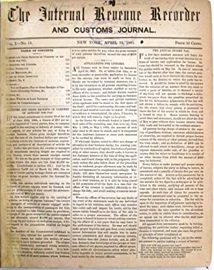 THE INTERNAL REVENUE RECORDER AND CUSTOMS JOURNAL