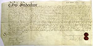 [WARRANTY DEED ON PARCHMENT, DATED 22 NOVEMBER 1731, TRANSFERRING REAL ESTATE ON THE WEST SIDE OF...