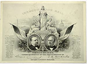 INAUGURATION BALL. MARCH 4TH 1885. COMMEMORATIVE OF THE INAUGURATION OF GROVER CLEVELAND PRESIDEN...