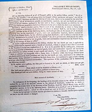 CIRCULAR TO COLLECTORS, NAVAL OFFICERS AND SURVEYORS. TREASURY DEPARTMENT, COMPTROLLER'S OFFICE. ...