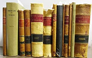 THIRTEEN VOLUMES OF EARLY WYOMING LAWS, COMPRISING: Wyoming