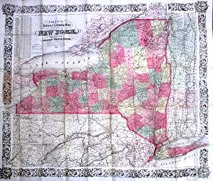 COLTON'S RAILROAD & TOWNSHIP MAP OF THE STATE OF NEW YORK, WITH PARTS OF THE ADJOINING STATES & C...