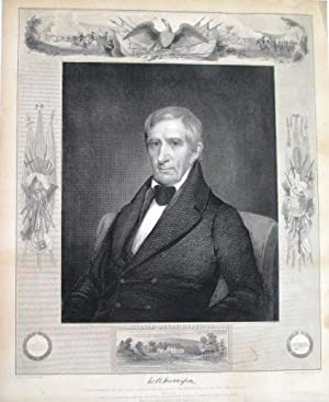 WILLIAM HENRY HARRISON. NINTH PRESIDENT OF THE UNITED STATES. BORN FEB. 9TH 1773. INAUGURATED MAR...
