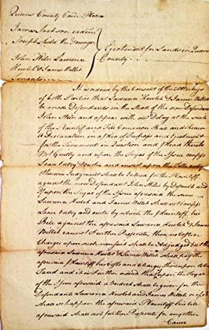 COLLECTION OF FIFTY MANUSCRIPT LEGAL DOCUMENTS FROM THE COURT OF COMMON PLEAS, SUPREME COURT AND ...