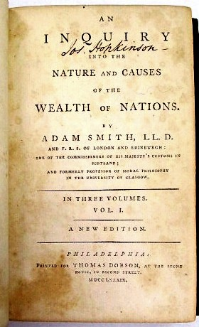 AN INQUIRY INTO THE NATURE AND CAUSES OF THE WEALTH OF NATIONS. IN THREE VOLUMES. A NEW EDITION
