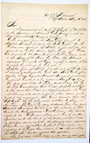 ELEGANTLY WRITTEN MANUSCRIPT LETTER, SIGNED, TO NEW YORK ATTORNEY FRANCIS H. UPTON, REGARDING JOU...