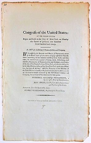 CONGRESS OF THE UNITED STATES: AT THE SECOND SESSION, BEGUN AND HELD AT THE CITY OF NEW-YORK, ON ...