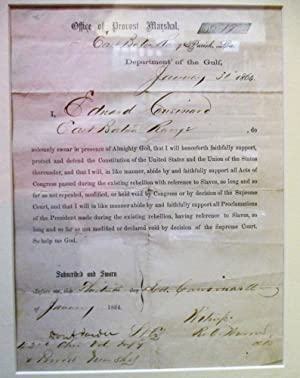 GROUP OF THREE LOYALTY OATHS SIGNED BY FORMER CONFEDERATES. [1] WHEREAS, ANDREW JOHNSON, PRESIDEN...