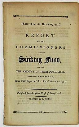 REPORT OF THE COMMISSIONERS OF THE SINKING FUND, STATING THE AMOUNT OF THEIR PURCHASES, AND OTHER...