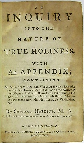 AN INQUIRY INTO THE NATURE OF TRUE HOLINESS. WITH AN APPENDIX; CONTAINING AN ANSWER TO THE REV. M...