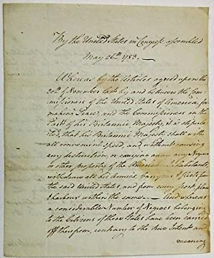 OFFICIAL MANUSCRIPT COPY, DOCKETED ON PAGE [4], OF THE CONTINENTAL CONGRESS'S RESOLUTION, INTRODU...