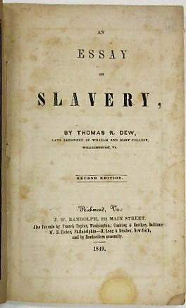 AN ESSAY ON SLAVERY. SECOND EDITION