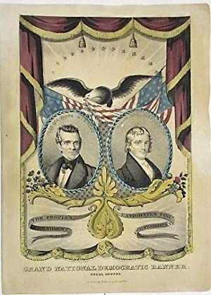 THE PEOPLE'S CANDIDATES FOR PRESIDENT AND VICE PRESIDENT. GRAND NATIONAL DEMOCRATIC BANNER. PRESS...