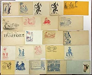 COLLECTION OF TWENTY-THREE PRO-UNION CIVIL WAR PATRIOTIC POSTAL COVERS ALL WITH CARICATURES