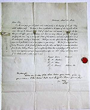 MANUSCRIPT LETTER IN A CLERK'S HAND, SIGNED AND DOCKETED BY WIRT IN WASHINGTON DC, TO JOHN DONNEL...