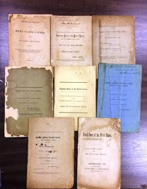 EIGHT PAMPHLETS ON THE FABLED CONTEST BETWEEN MYRA CLARK GAINES, THE CITY OF NEW ORLEANS, AND DAN...