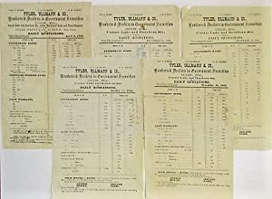 A COLLECTION OF ELEVEN CHICAGO DAILY FINANCIAL SHEETS FROM BANKING HOUSES, 1868