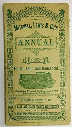 MITCHELL, LEWIS & CO'S ANNUAL 1882 FOR: Mitchell, Lewis &
