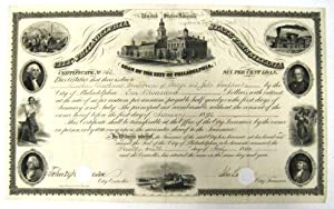 LOAN OF THE CITY OF PHILADELPHIA| CERTIFICATE NO. 162.| SIX PER CENT LOAN.| THIS CERTIFIES THAT T...