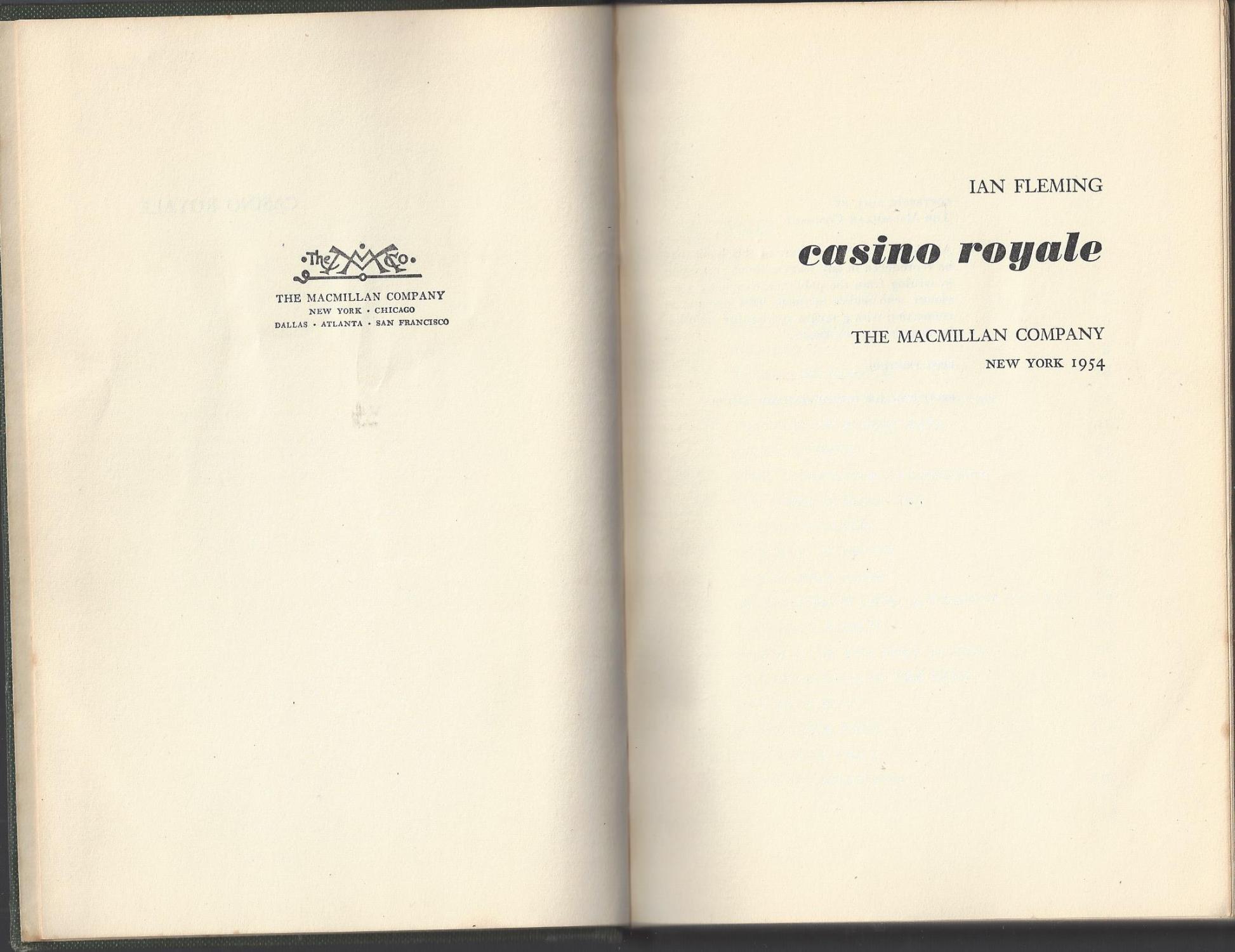 Casino royale 1954 macmillian edition play real casino slots for fun