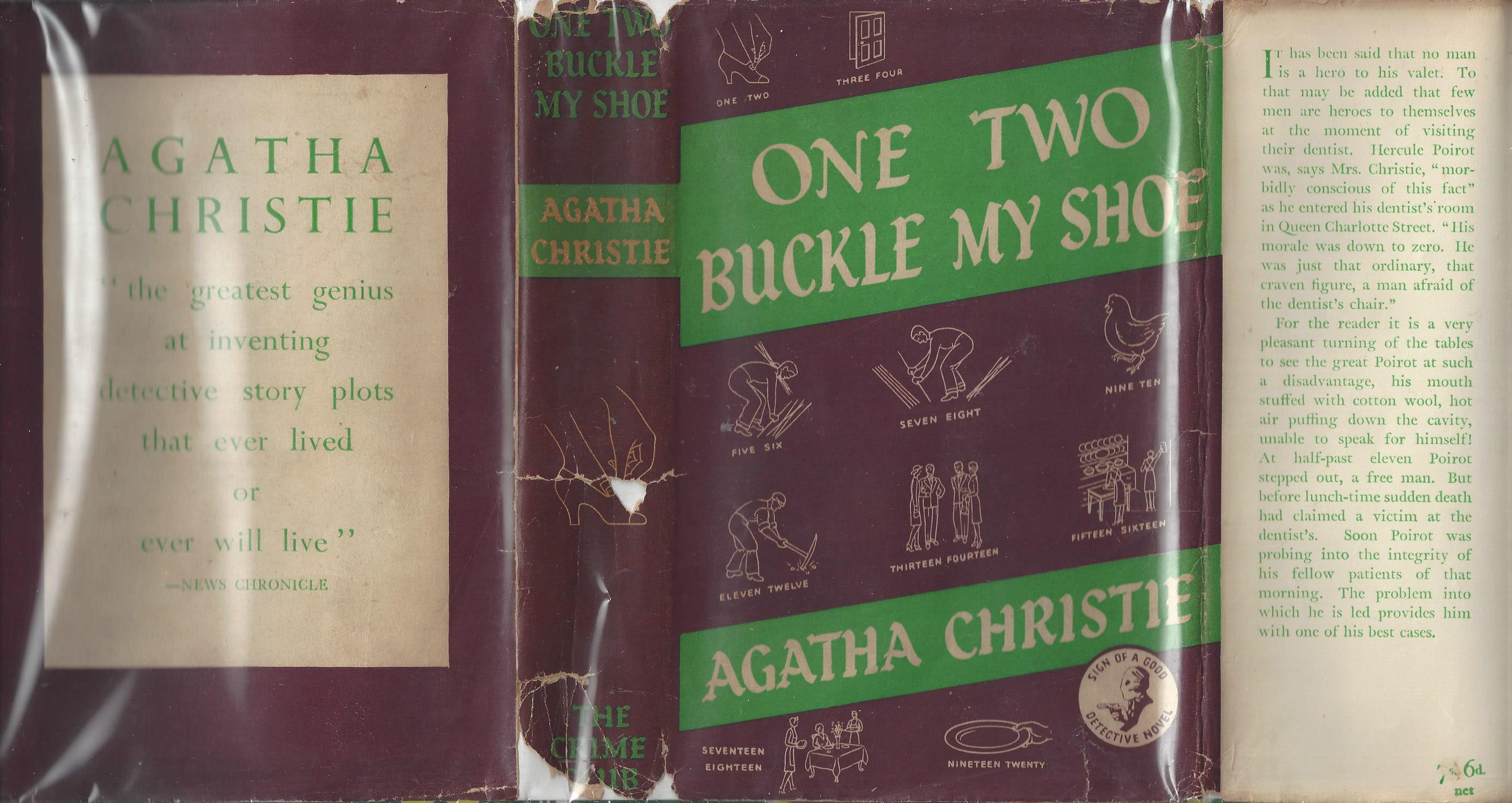 One, Two, Buckle My Shoe - WITH RARE ORIGINAL DUST JACKET - NOT PRICE CLIPPED! Agatha Christie Very Good Hardcover