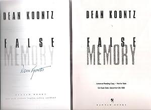 False Memory - Proof Signed: Dean Koontz