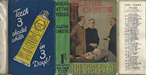 The Murder At The Vicarage - WITH ORIGINAL DUST JACKET
