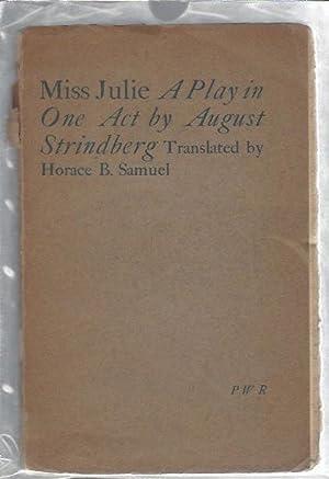 Miss Julie - a Play in One: Strindberg, August