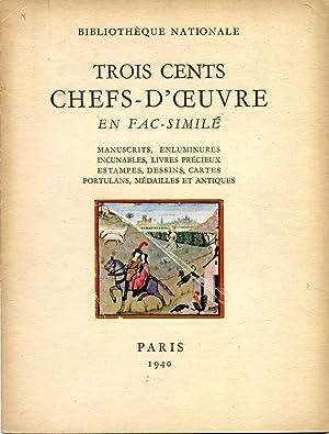 Trois cents chefs-d¿¿uvre en fac-similé. Manuscrits, enluminures,: Emile-A van Moé,