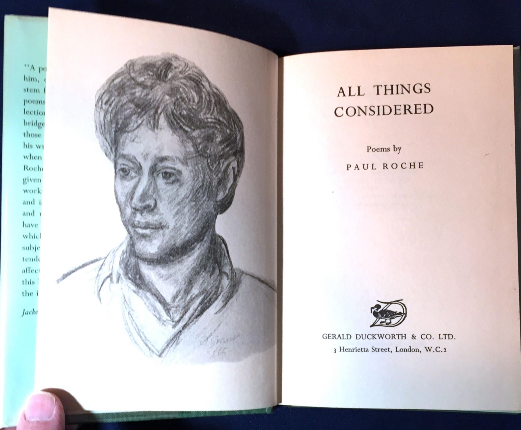 All Things Considered Poems By Paul Roche