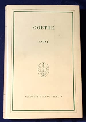 Goethe Faust First Edition Abebooks