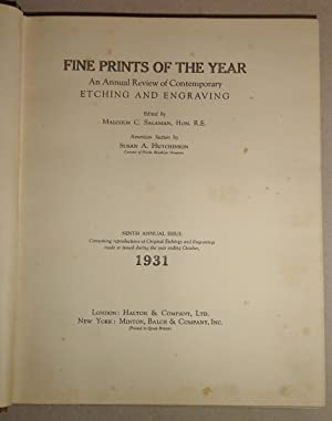 Fine Prints of the Year; an Annual Review of Contemporary Etching and Engraving, Vol. 9: 1931: ...