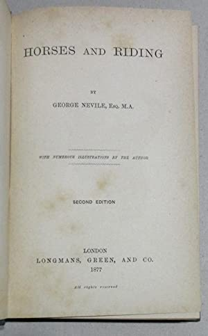 Horses and riding: Nevile, George