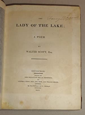 The Lady of the Lake: Scott, Sir Walter
