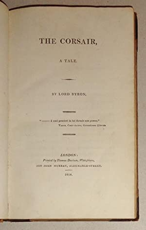 The Corsair, A Tale [bound with] The Bride of Abydos, a Turkish Tale: Byron, Lord [George Gordon].