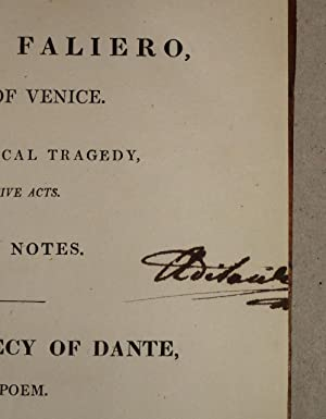 Marino Faliero, Doge Of Venice. An Historical Tragedy In Five Acts. With Notes - The Prophecy Of ...