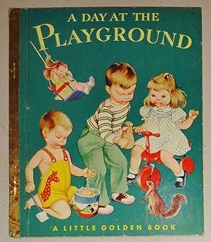 A Day at the Playground; Little Golden Book # 119: Schlein, Miriam & Eloise Wilkin (Illust)