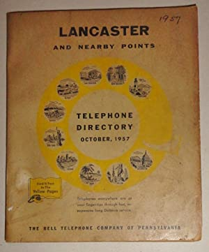 Lancaster and Nearby Points Telephone Directory And Yellow Pages; 1957: Bell Telephone